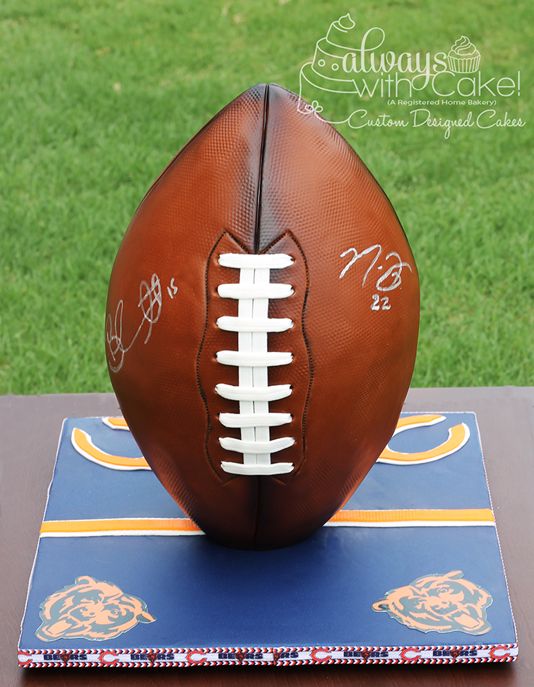 Football Cake - Chicago Bears