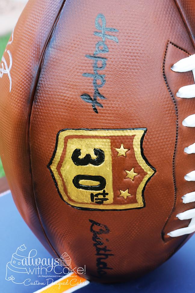 Football Cake - Hand Painted