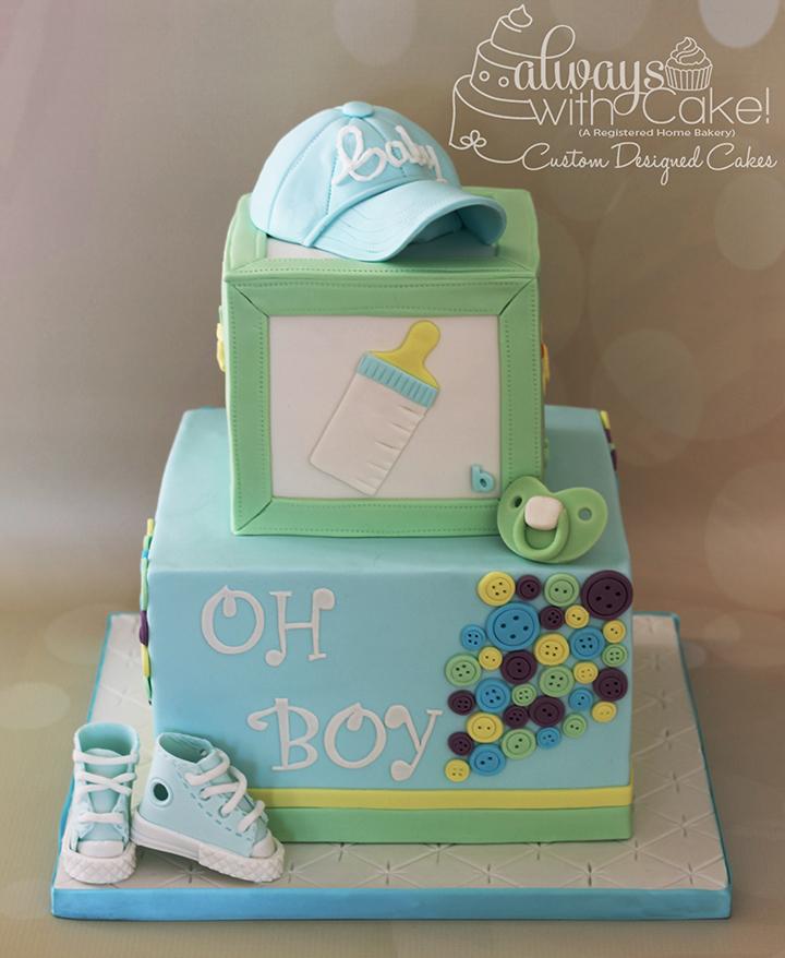 Oh Boy!  Baby Shower Cake