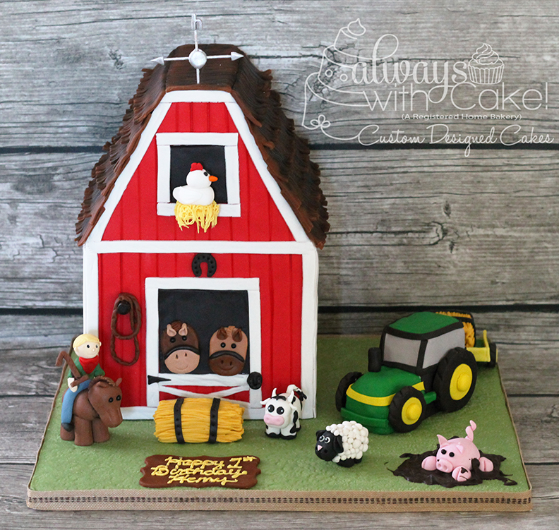 Farm - Barn Birthday Cake