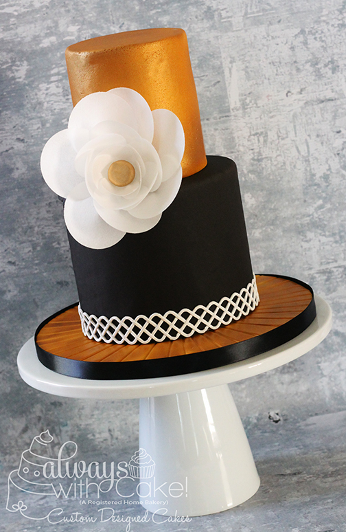 Black & Gold Birthday Cake