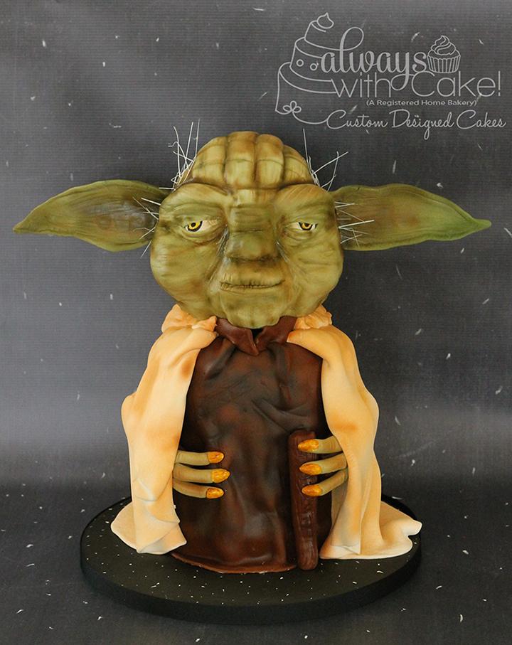 3D Yoda Birthday Cake