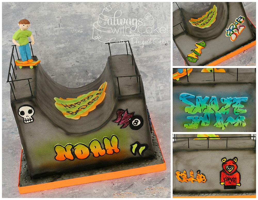 Skateboarder Halfpipe Cake