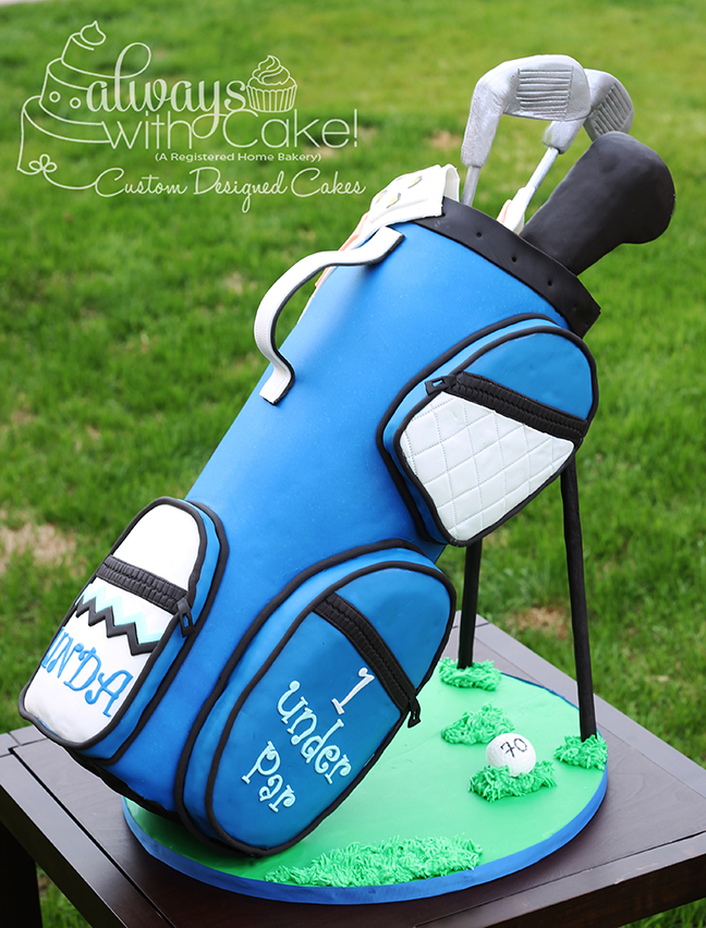 Golf Bag 70th Birthday Cake