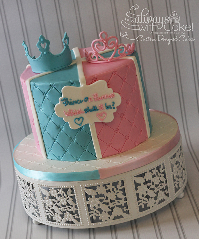 Gender Reveal Cake - Prince or Princess?