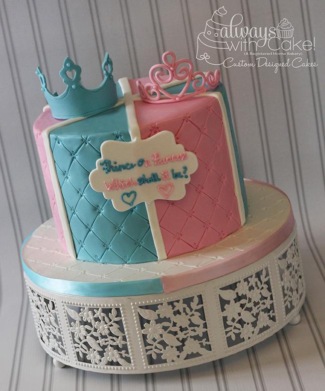 Gender Reveal Cake - Prince or Princess?