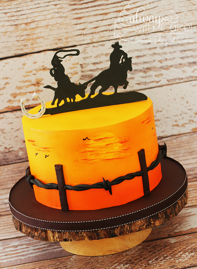 Calf Roper Birthday Cake