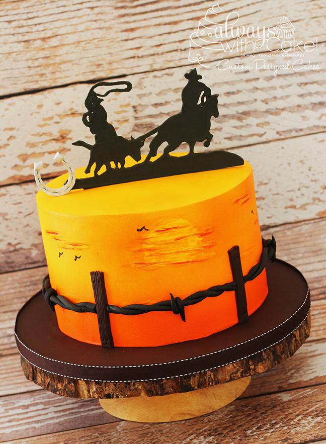 Calf Roper Birthday Cake