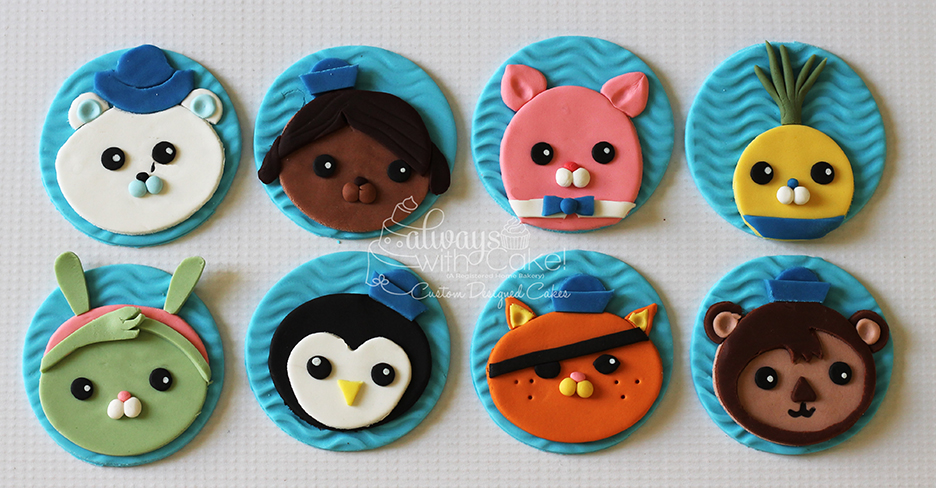 Octonaut Cupcake Toppers