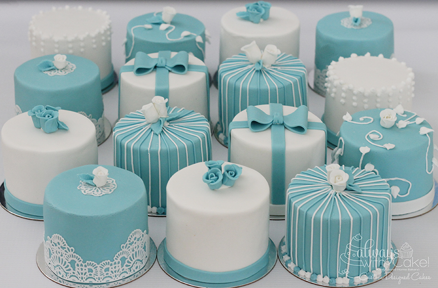 Mini Bridal Shower Cakes