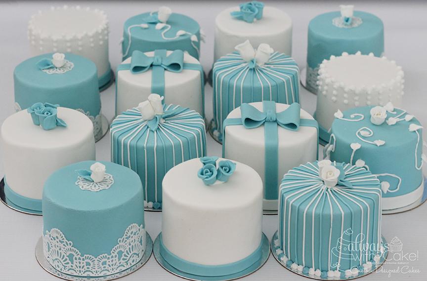 Mini Bridal Shower Cakes