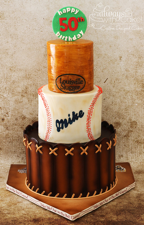 Baseball Cake - Glove, Ball & Bat