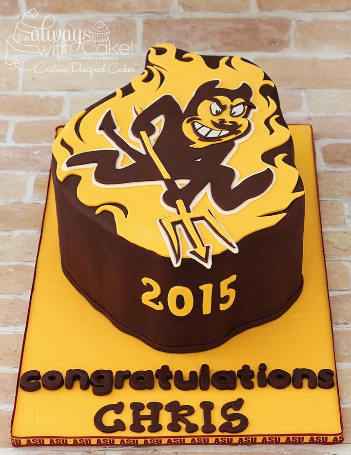 ASU Sun Devils Graduation Cake