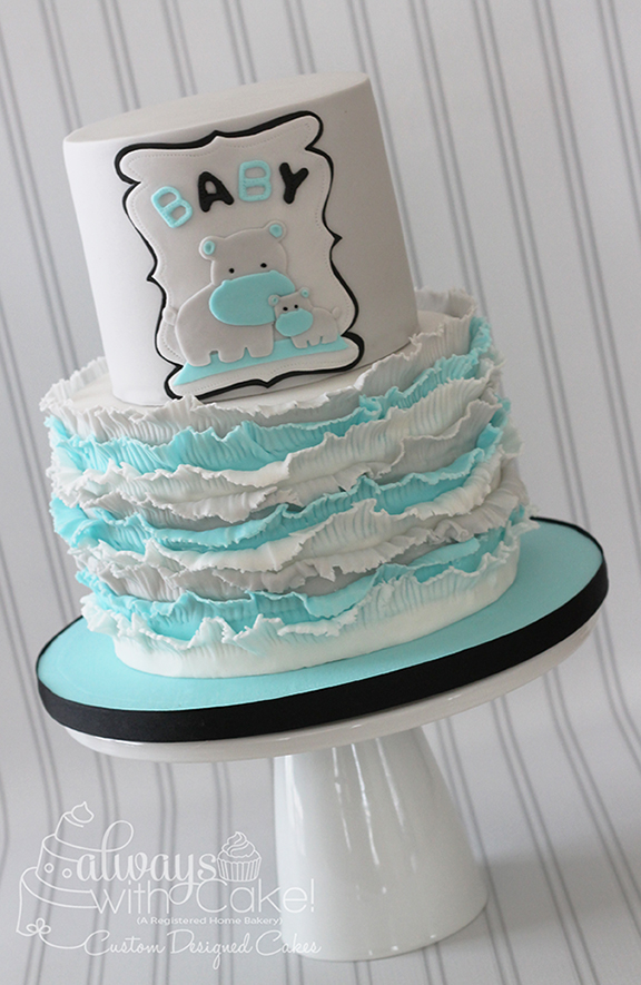 Hippo Baby Shower Cake