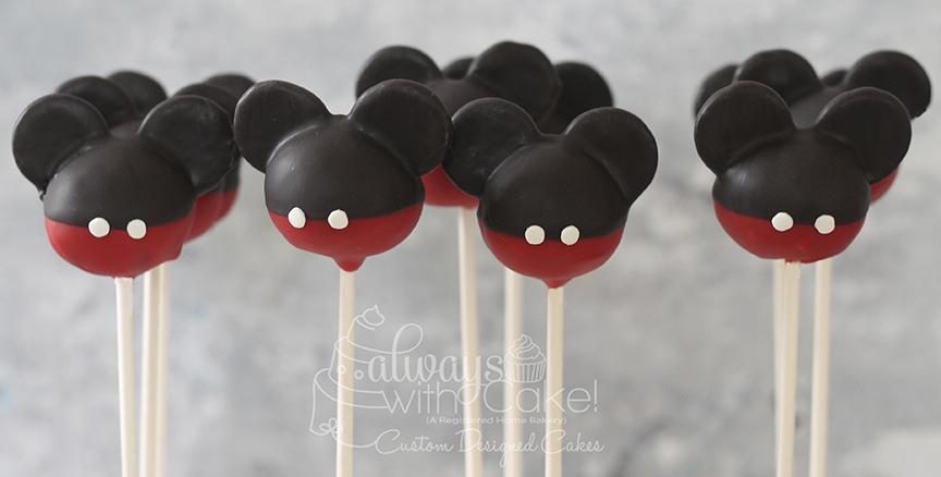 Mickey Cake Pops