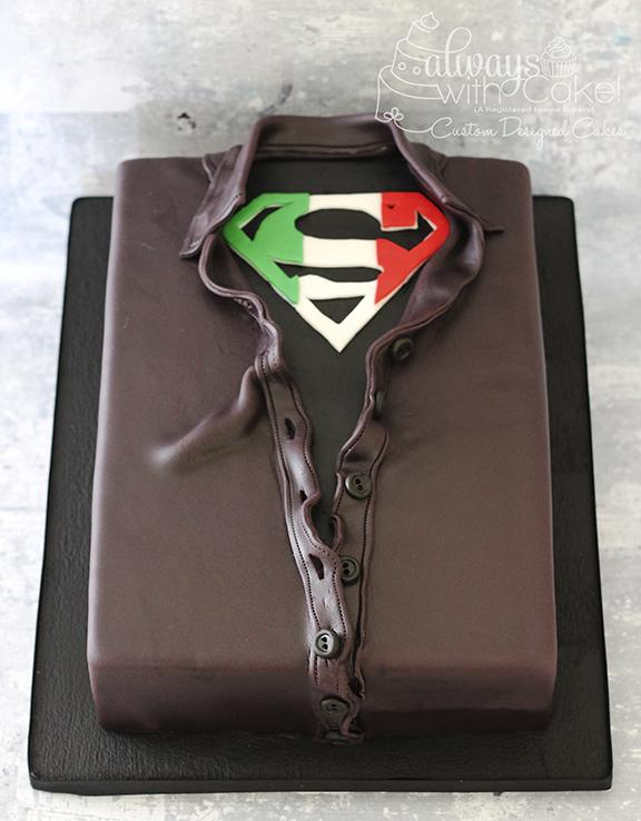 Superman Grooms Cake - Italian Style