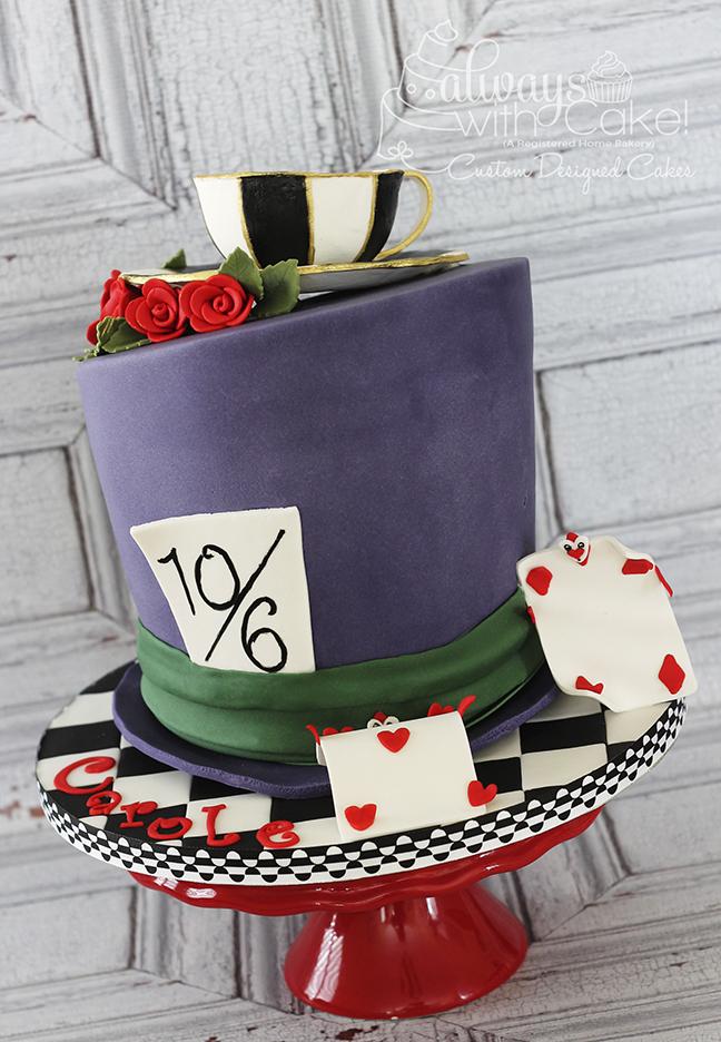 Mad Hatter Hat Cake