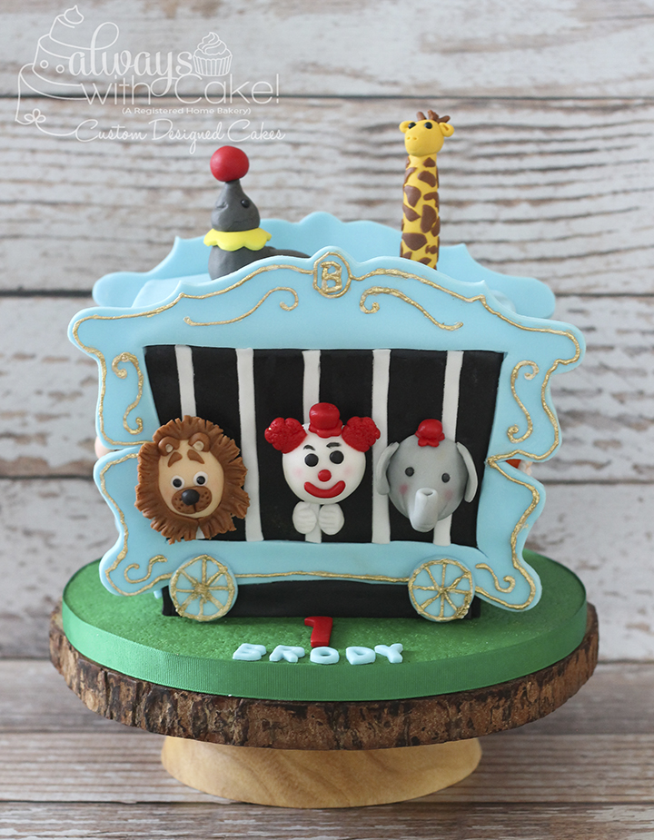 Circus Train Car Smash Cake