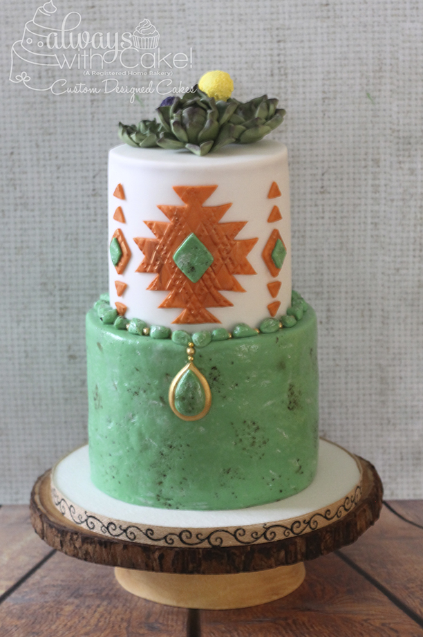 Southwestern themed Cake