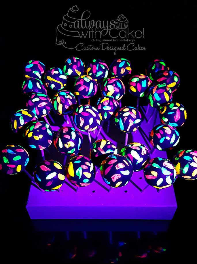 Glow In the Dark Cake Pops