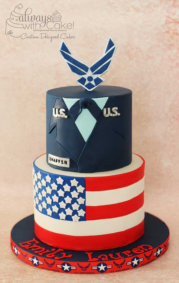 Air Force and Forth of July Cake