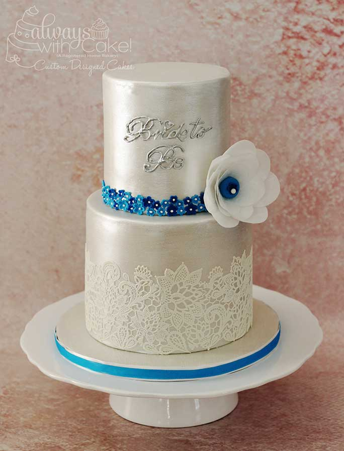 Pearl and Lace Bridal Shower Cake