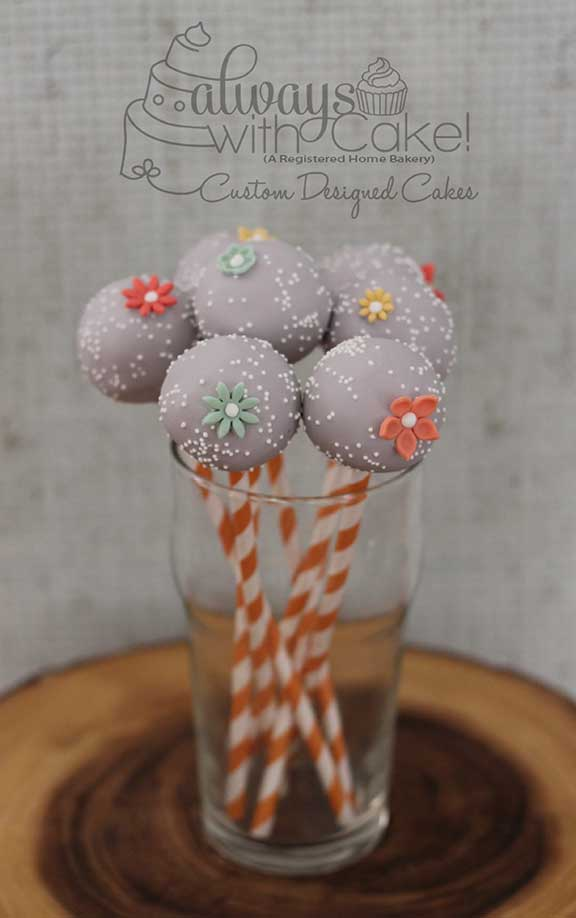 Cake Pops in Grey