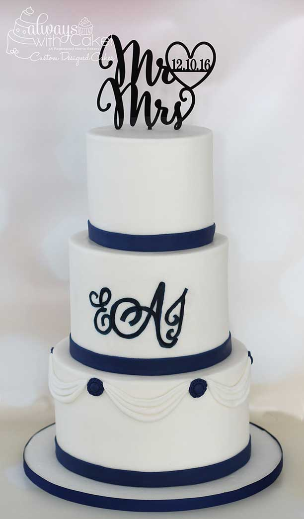 Simply Elegant Wedding Cake