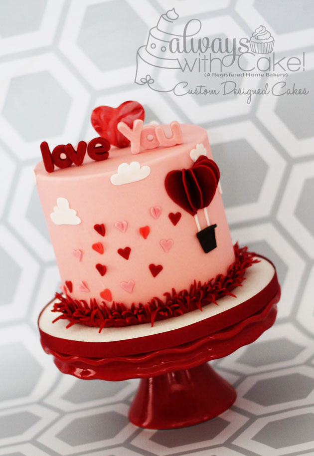 Valentine's Day Cake - Love is in the Air