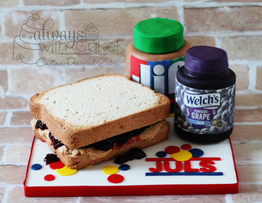 PB&J Sandwich Cake