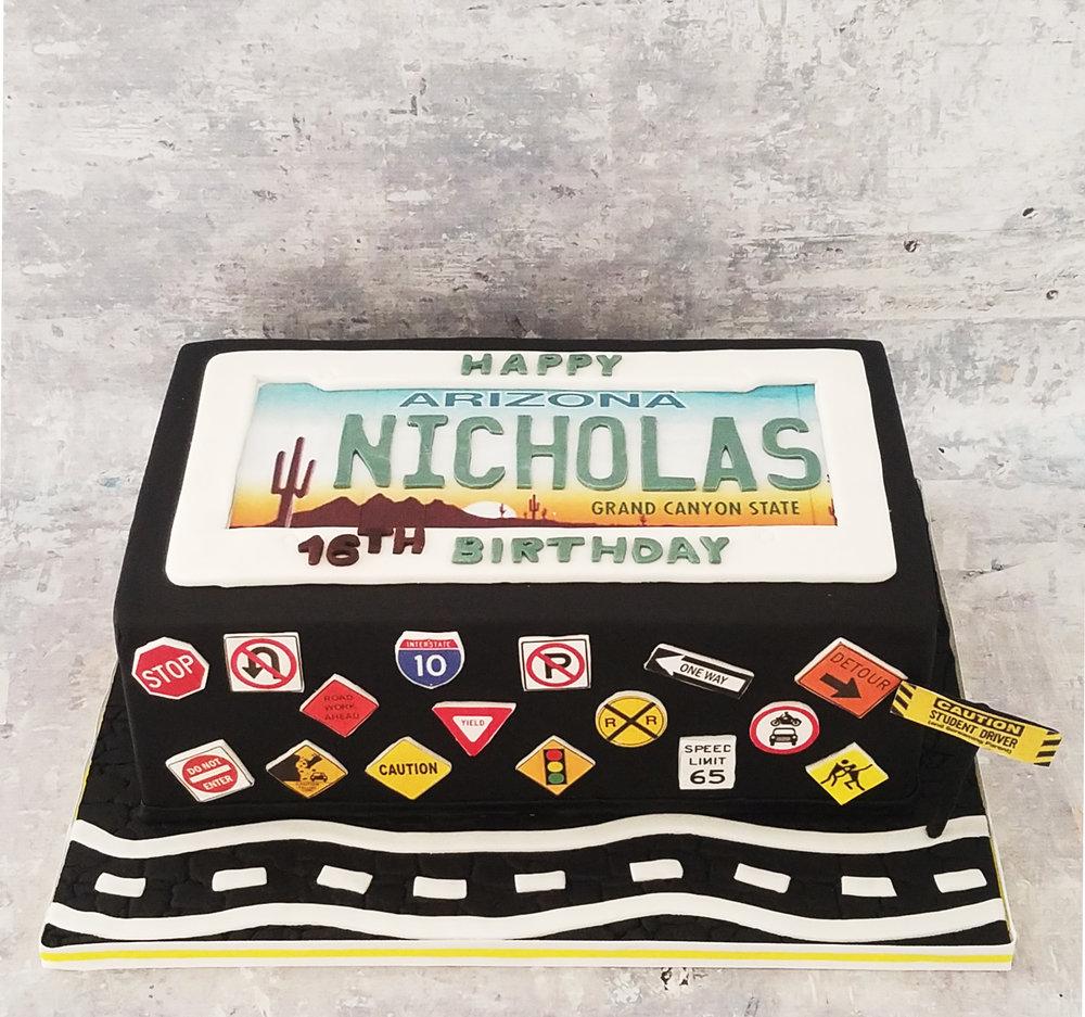 New Driver 16th Birthday Cake