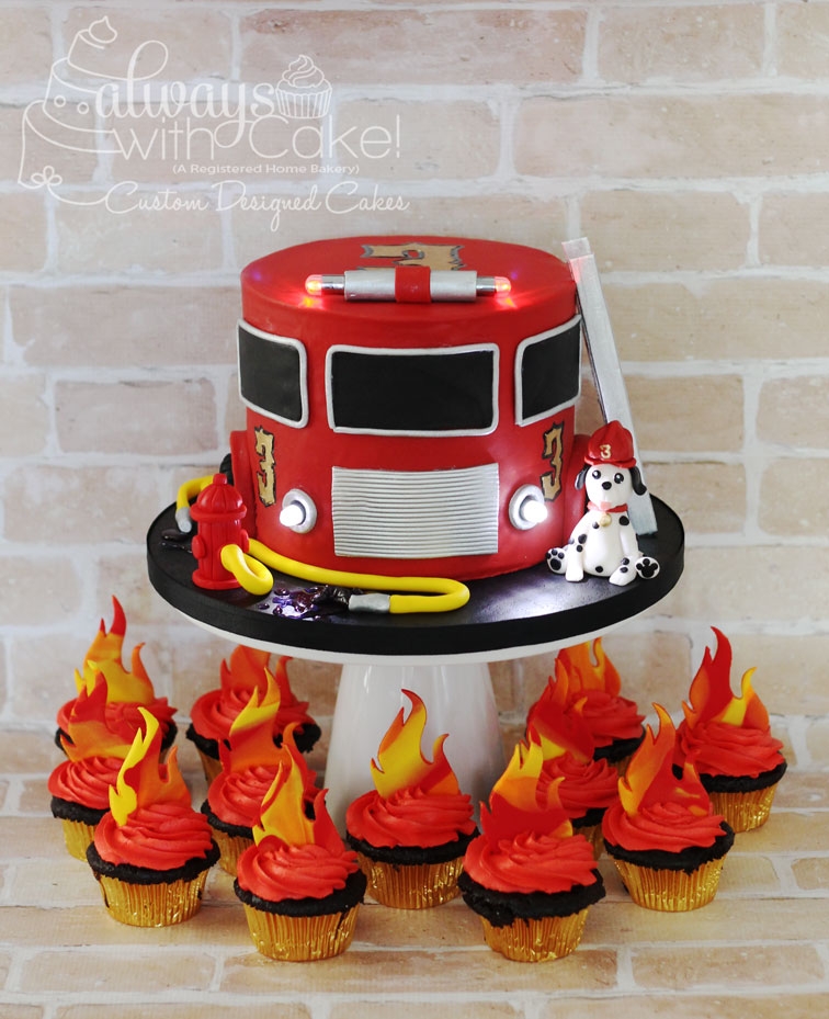 Flame Cupcakes