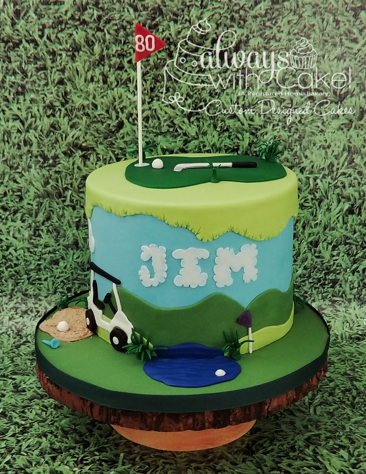 80th Birthday Golf Cake