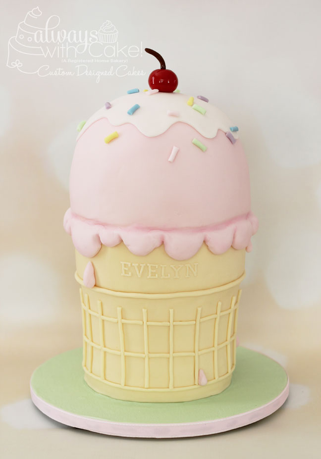Ice Cream 1st Birthday Cake