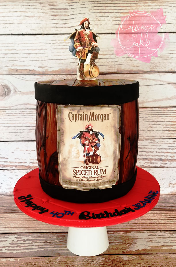 Captain Morgan Rum Barrel Cake