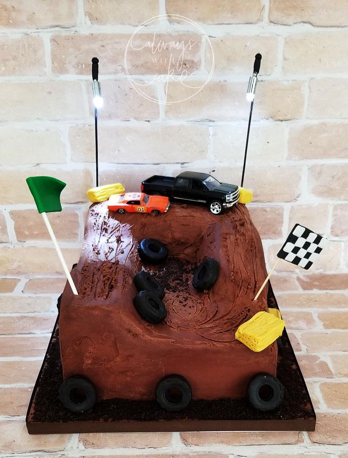 Mud Race Track Cake