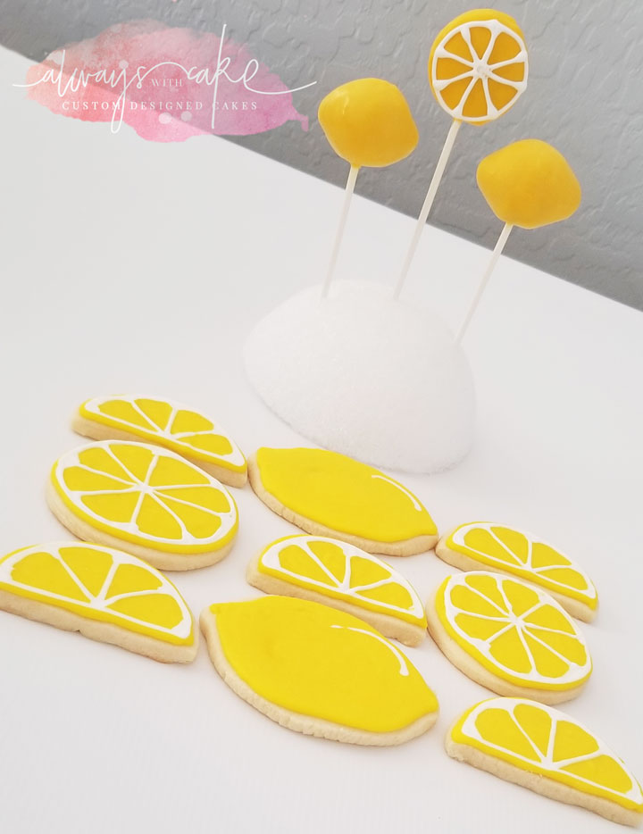 Lemon Cookies and Cake Pops