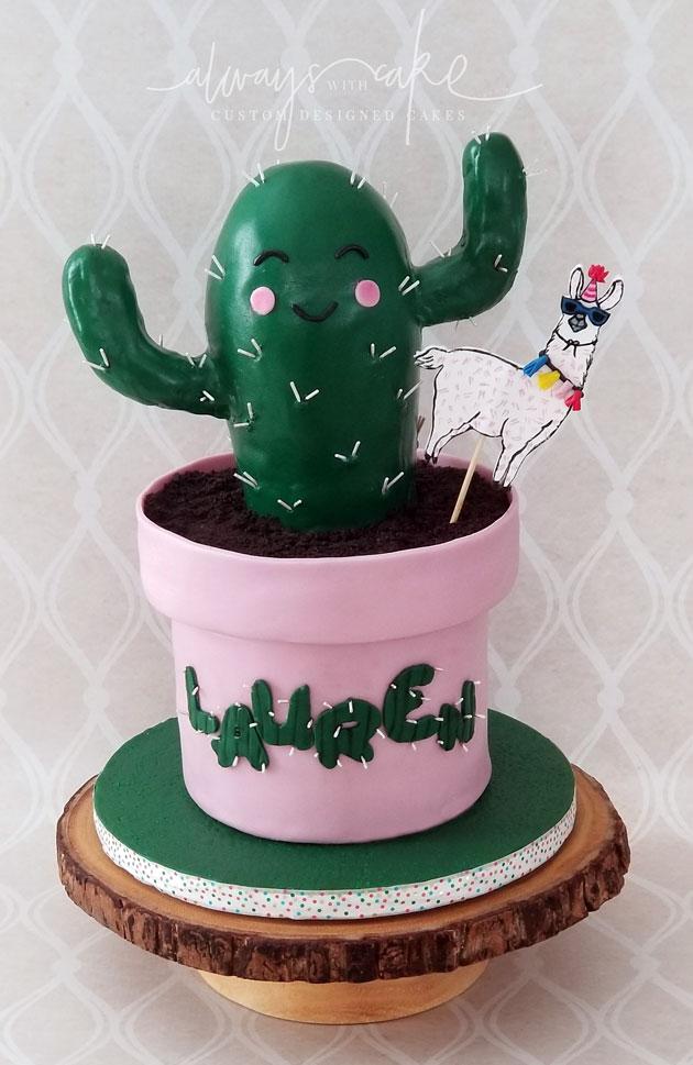 Cactus and Llama Cake