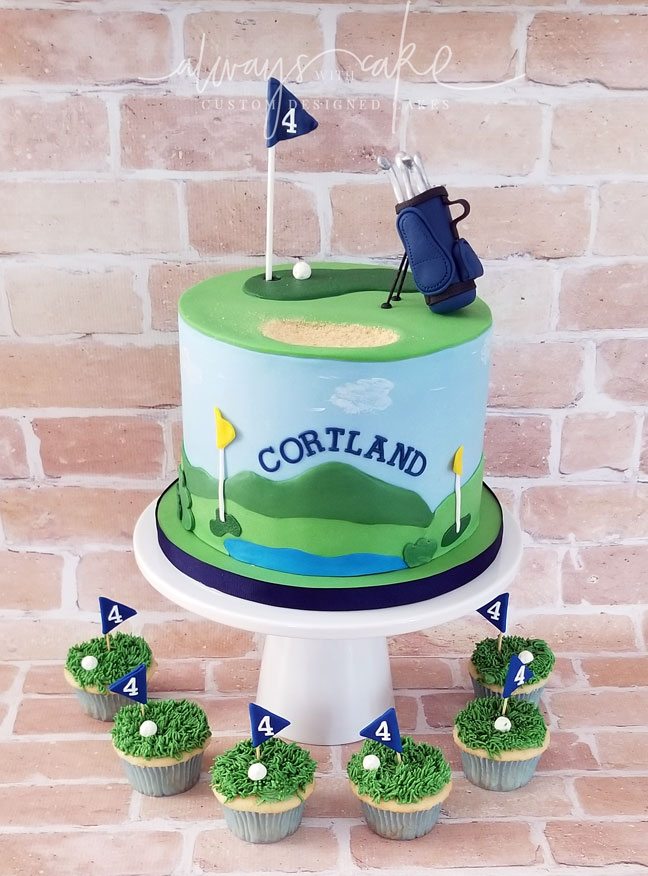 Golf Cake and Cupcakes