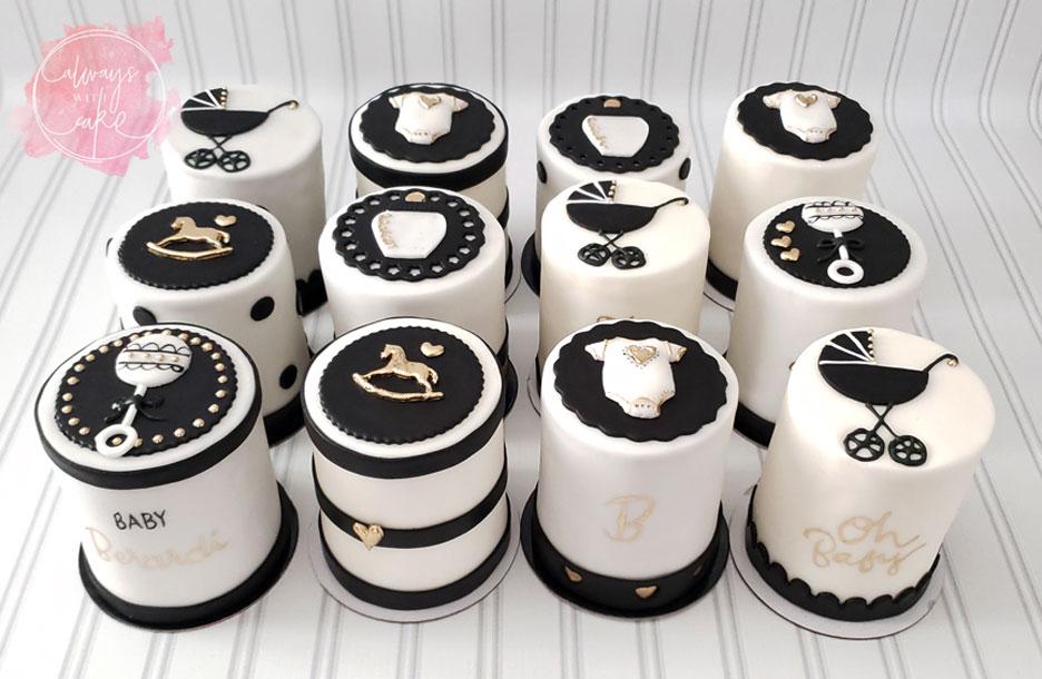 Mini Baby Shower Cakes