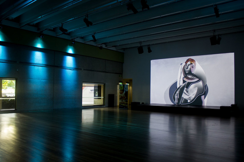 Mesh  projection installation at The Edge, State Library of Queensland auditorium in 2016