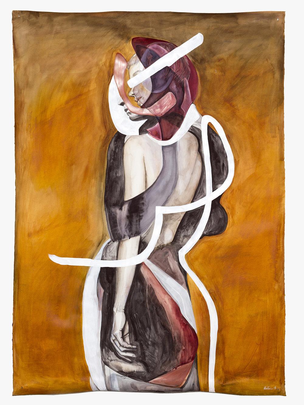Bushfire  2018, 160 x 113cm, Watercolour, Gouache and Acrylic on Paper  SOLD