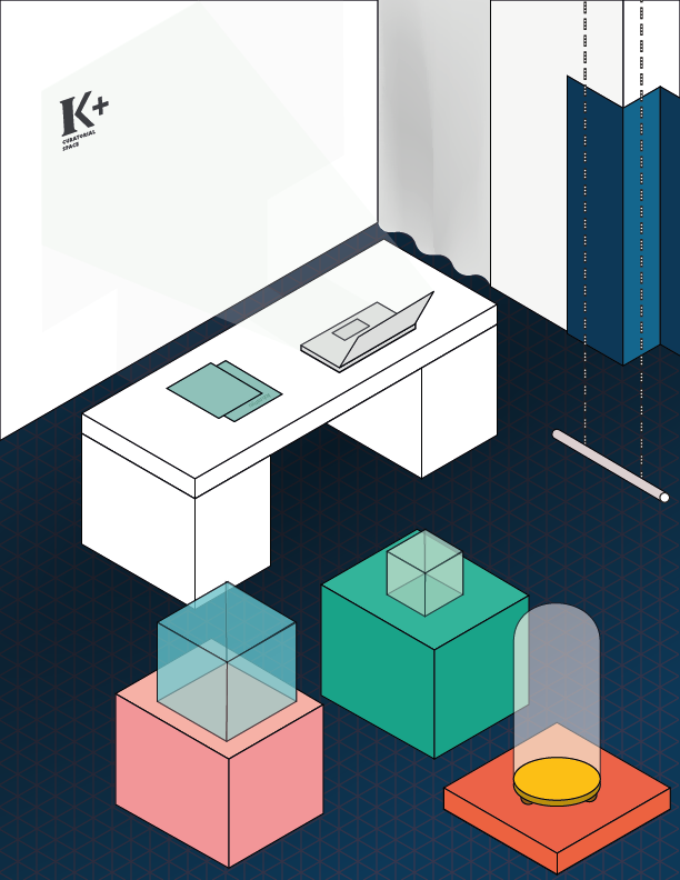 A postcard design for my colleagues at Kinetic and K+. An isometric illustration featuring some of the representative icons of the frequent exhibitions we had. All the cards were printed and messages were typed using Royal Coral 1960 Cursive, limited edition typewriter.