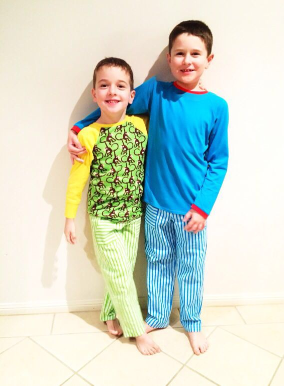 Aren't they just adorable in their new winter pyjamas???  I love the bright colours.