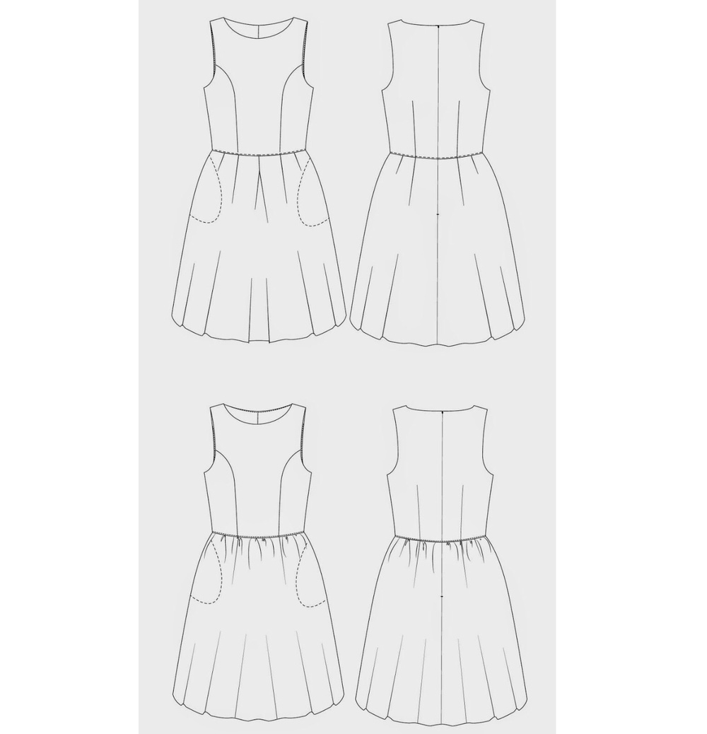 The Miss Audrey line drawing.