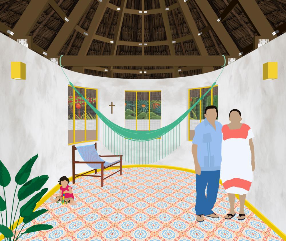Interior hut collage