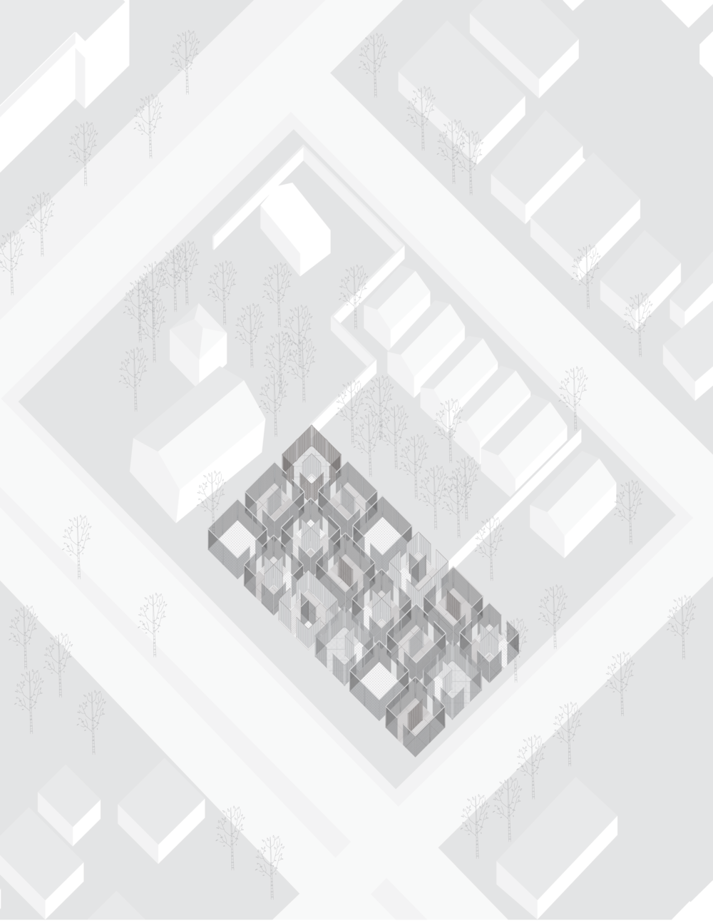Site axonometric
