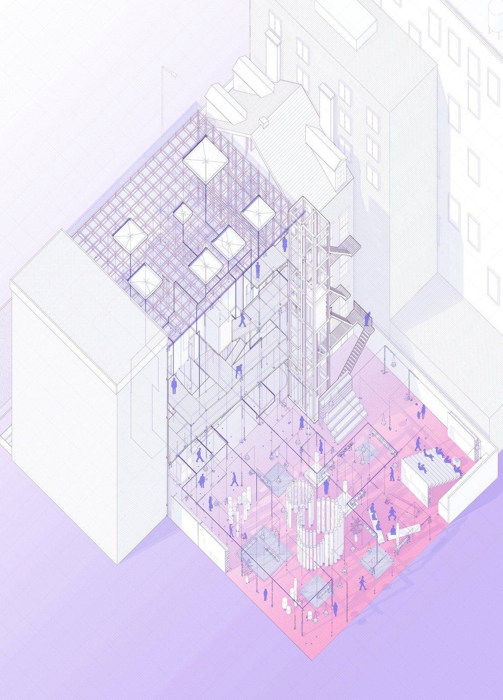 Political park axonometric