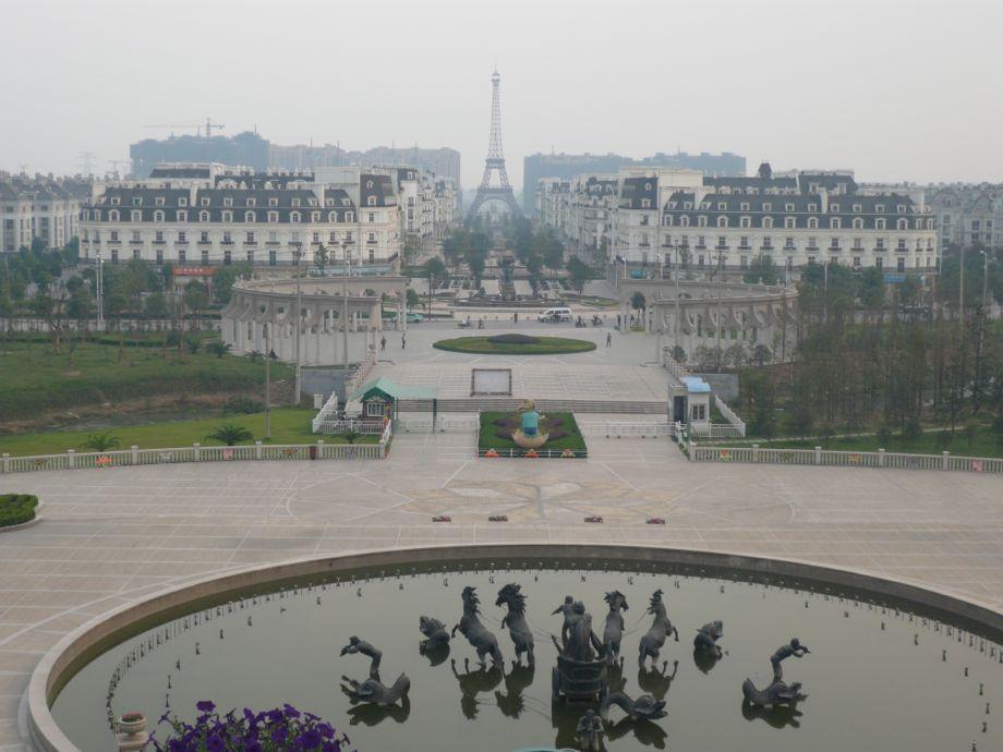 """""""Oriental Paris"""" in Tianducheng, Hangzhou; photo by Bianca Bosker"""