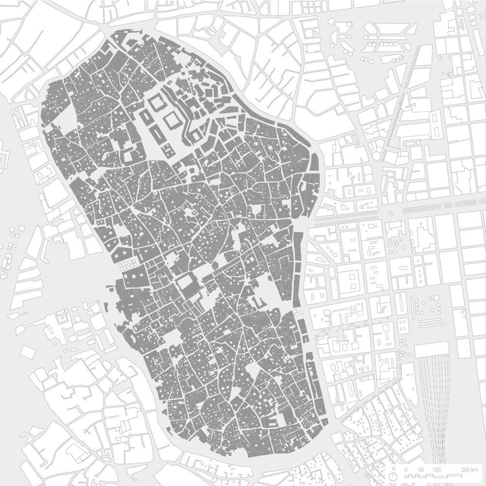 Map of the Tunis Medina